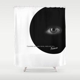 Black Eye Shower Curtain