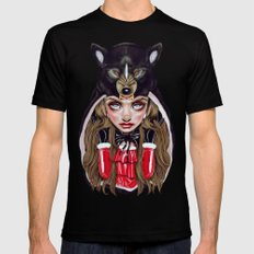 Red Riding Hood Mens Fitted Tee X-LARGE Black