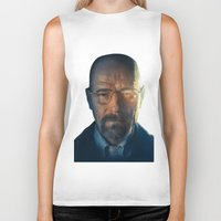 walter white Biker Tanks featuring Walter White by turksworks