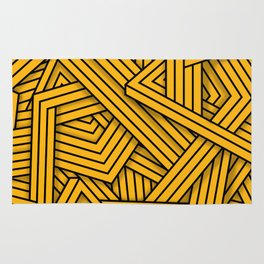 Lines - Yellow Rug