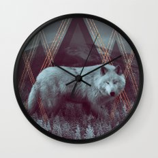 In Wildness | Wolf Wall Clock