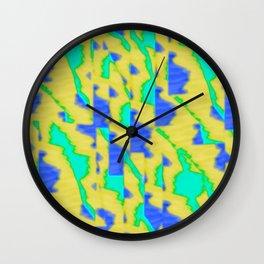 pattern funk colortheme 3 Wall Clock
