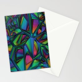 geometry diagram colored patterns Stationery Cards
