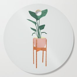 Boho mid century modern house plant and pot stand Cutting Board