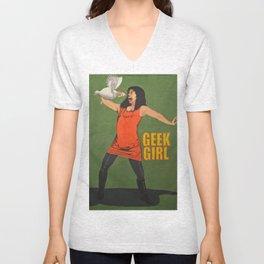 Geek Girl  Unisex V-Neck