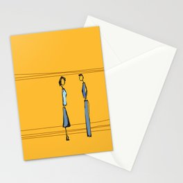 Woman and Man in Utah Stationery Cards