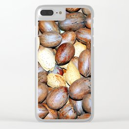 Mixed nuts. Clear iPhone Case