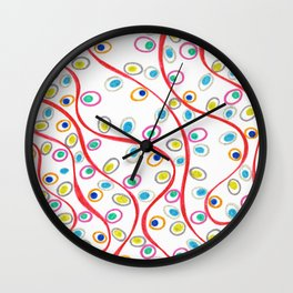 Doodle Pips Wall Clock