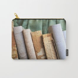 Vintage Suitcase - Textures Carry-All Pouch