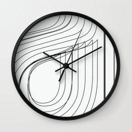 Helvetica Condensed 002 Wall Clock