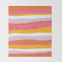 cali beach stripes Throw Blanket
