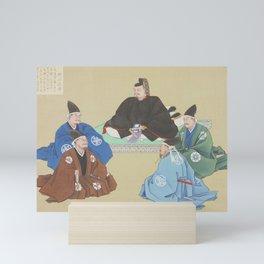 Japanese MUSHA Samurais Warriors Council Mini Art Print