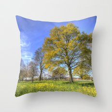 Summertime Farm England Throw Pillow