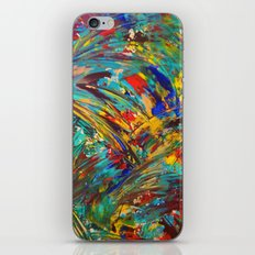 FIREWORKS IN COLOR - Bold Abstract Acrylic Painting Lovely Masculine Colorful Splash Pattern Gift iPhone & iPod Skin