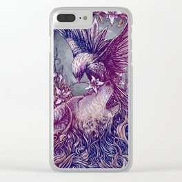 Romance Wolf Clear iPhone Case