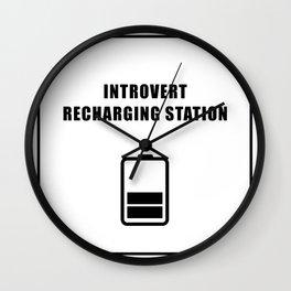 Introvert Recharging Wall Clock