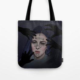 Bury A Friend | Billie Eilish Digital Portrait Dark Tote Bag