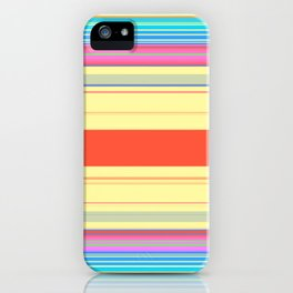 Colorful Bright Spring Stripes iPhone Case