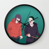 bike Wall Clocks featuring BIKE by ketizoloto