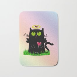 angel cat and ladybug Bath Mat