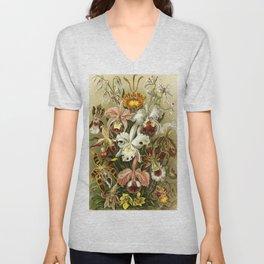 Ernst Haeckel Kunstformen der Nature Orchids Unisex V-Neck