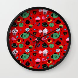 tea on red Wall Clock