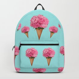 Ice cream with peonies Backpack