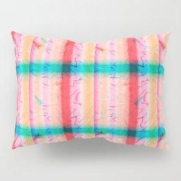 Pink Blue Square Pillow Sham