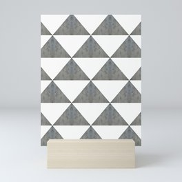 Cement White Triangles Mini Art Print
