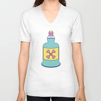 drink V-neck T-shirts featuring Drink Up by erinpantz