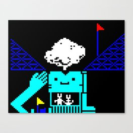 Do You Go Where I Go? page 3 (teletext) Canvas Print