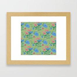 Rose print Framed Art Print