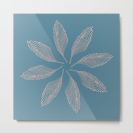 Feather Pattern Metal Print