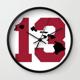 Aloha Tua - Red & Black Wall Clock