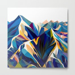 Mountains cold Metal Print