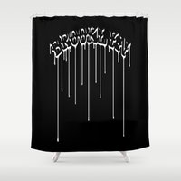 brooklyn Shower Curtains featuring Brooklyn by TAM ♡