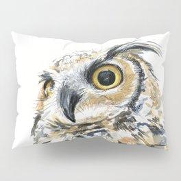 Owl Great Horned Bird of Prey Owls Animals Bird Wildlife Pillow Sham