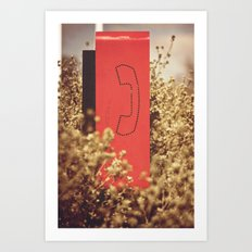Phonebooth Art Print
