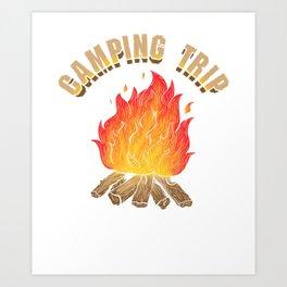 Campfire Camping Trip Adventure Art Print