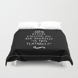 Is This Textable Duvet Cover