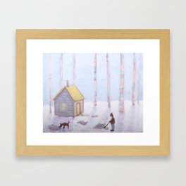 Melting Snow Reveals the Secrets We Buried in the Fall Framed Art Print