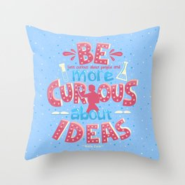 Marie Curie Quote Throw Pillow