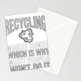 Environmental Awareness Recycling Makes Sense Recycle and Reuse Stationery Cards