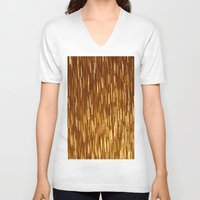 gold glitter V-neck T-shirts featuring Gold Glitter 1394 by Cecilie Karoline