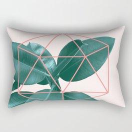 Geometric greenery II Rectangular Pillow