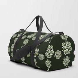 green flowers on black background. (https://society6.com/vickonskey/s?q=popular+prints ) Duffle Bag