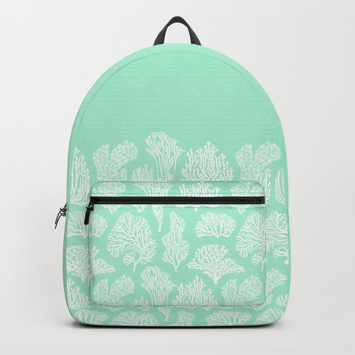 White corals on mint Backpack