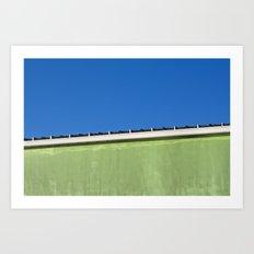 Lime Sky Art Print