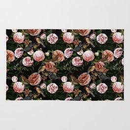 Vintage & Shabby Chic - Blush Camellia & Kingfishers Rug