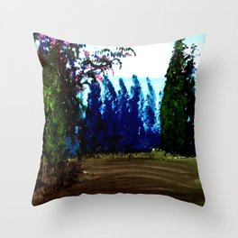 Mimosa in bloom Throw Pillow